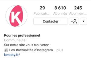 compte instagram de kenoby.fr